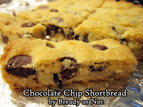 Bready or Not Original: Chocolate Chip Shortbread with Cocoa Nibs