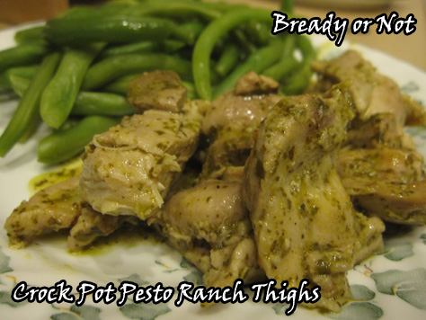 Bready or Not: Crock Pot Pesto Ranch Chicken Thighs | BethCato.com