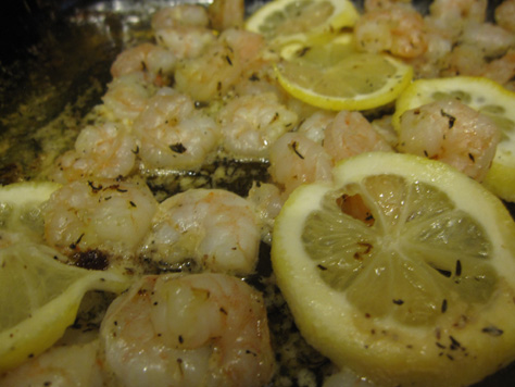 Roasted Lemon Garlic Herb Shrimp - BakeBakeBake